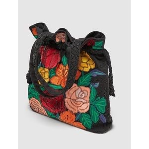 Zara bucket bag with floral embroidery- host pick!